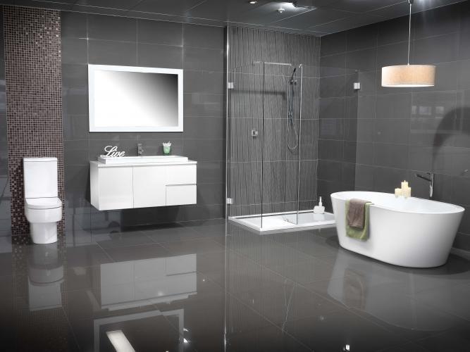 Grey Modern Ideas With Modern Grey  Bathroom remodel