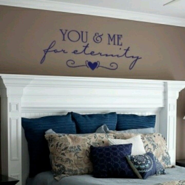 Fireplace mantel headboard and quote above bed also pin by paige jenkins on home is where the heart pinterest rh