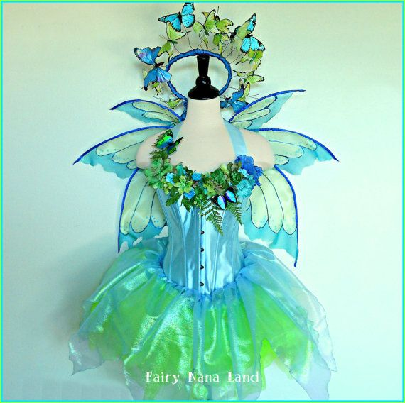Fairy Costume Adult Size S M Bust 36 BUTTERFLY GARDEN FAIRY
