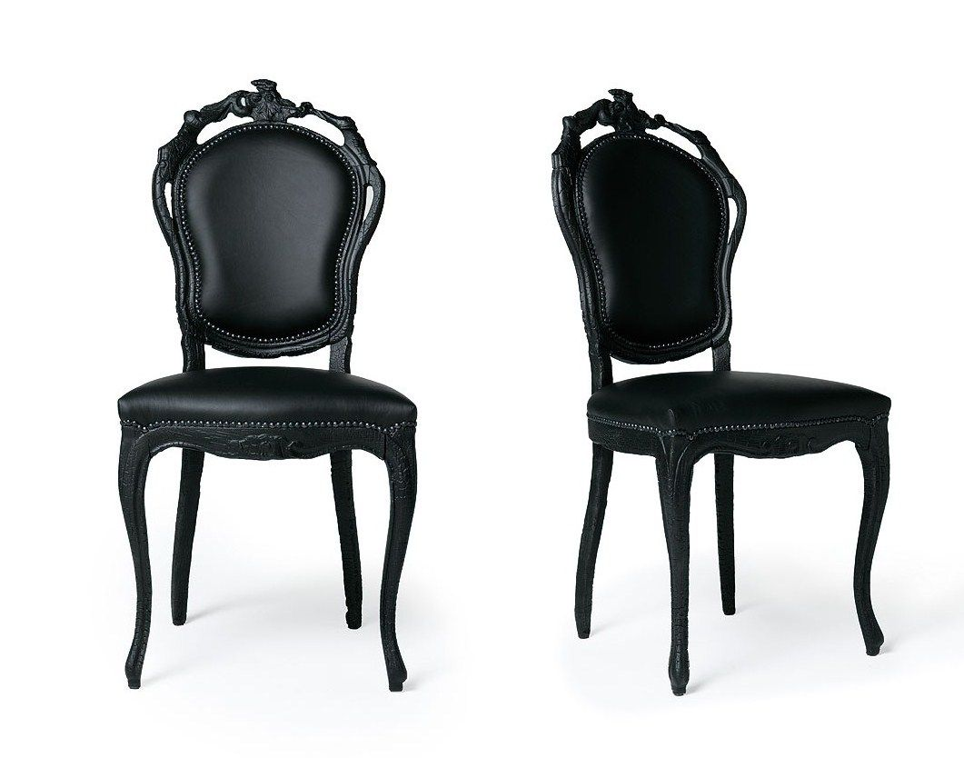 Black Leather Dining Room Chairs French Italian Painted Chairs Black Leather Chairs