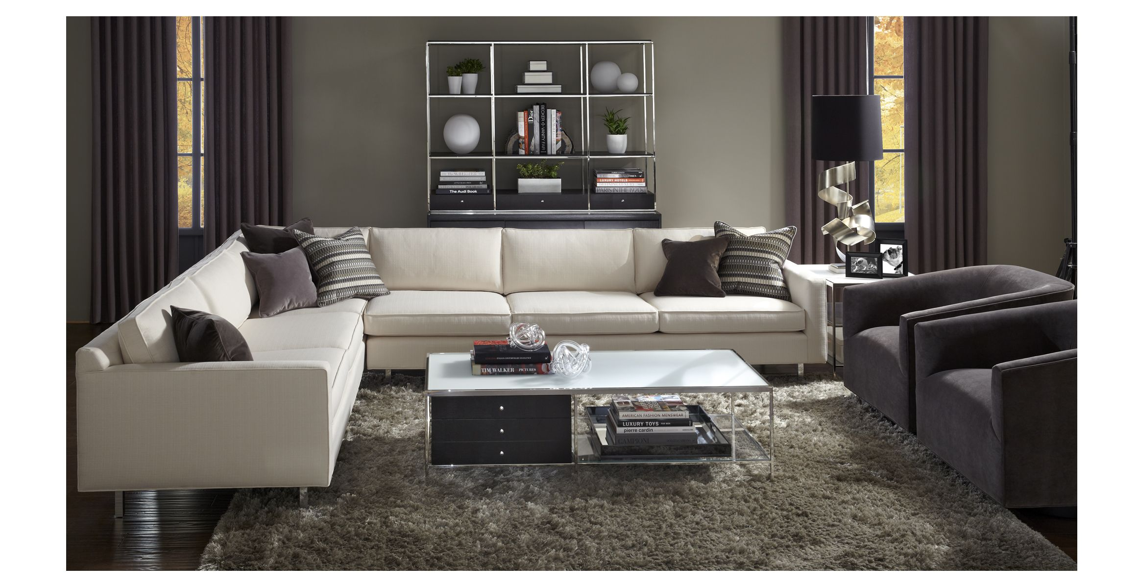 mitc gold hunter sofa white contemporary italian leather sectional mitchell great room pinterest