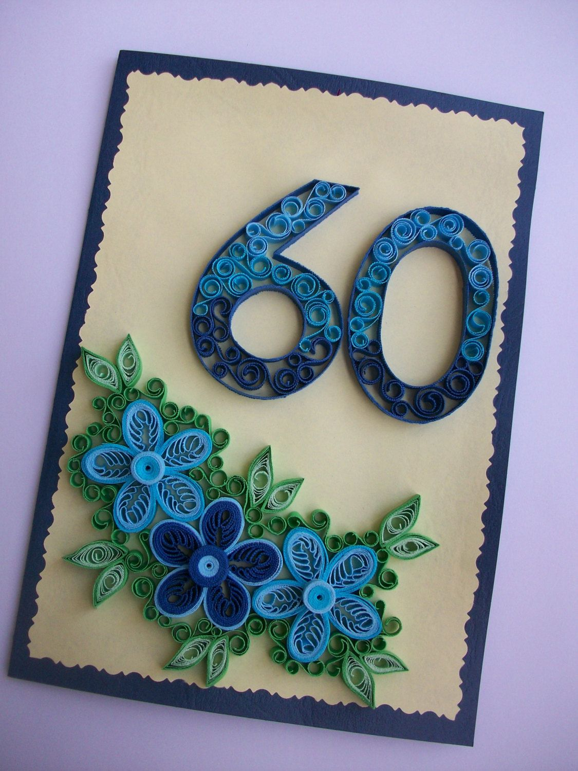 Birthday Anniversary Quilling Card Greeting Card Quilled