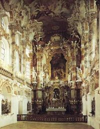 Cathedral ceiling design. Highly ornate Rococo ceiling ...