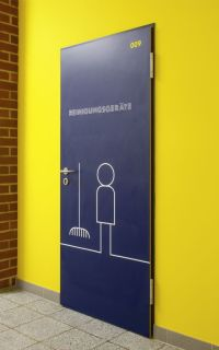 Interesting signage ~ is it a broom closet? Or a place to ...