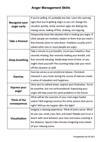 Printables. Anger Management Worksheets For Teens