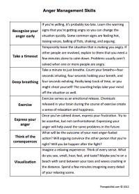 Printables. Anger Management Worksheets For Teens ...