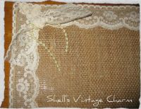 Shabby Chic LACE and BURLAP Placemats by