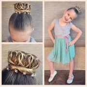 crown bun - princess braids