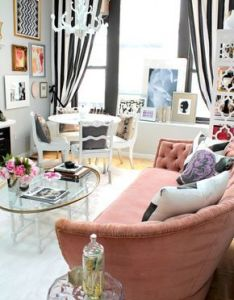 How cute is this living room dining just  few pictures and colorful home decor ideashome design decorbest also inspiring small space decorating ideas for studio apartments rh za pinterest