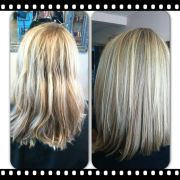 long bob hairstyles with blonde
