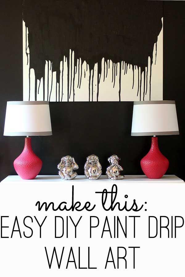 Make This Easy Diy Paint Drip Wall Art  Modern Wall Art