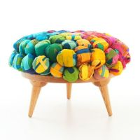 Recycled Silk Ottoman | Decor ideas - Dream Home ...