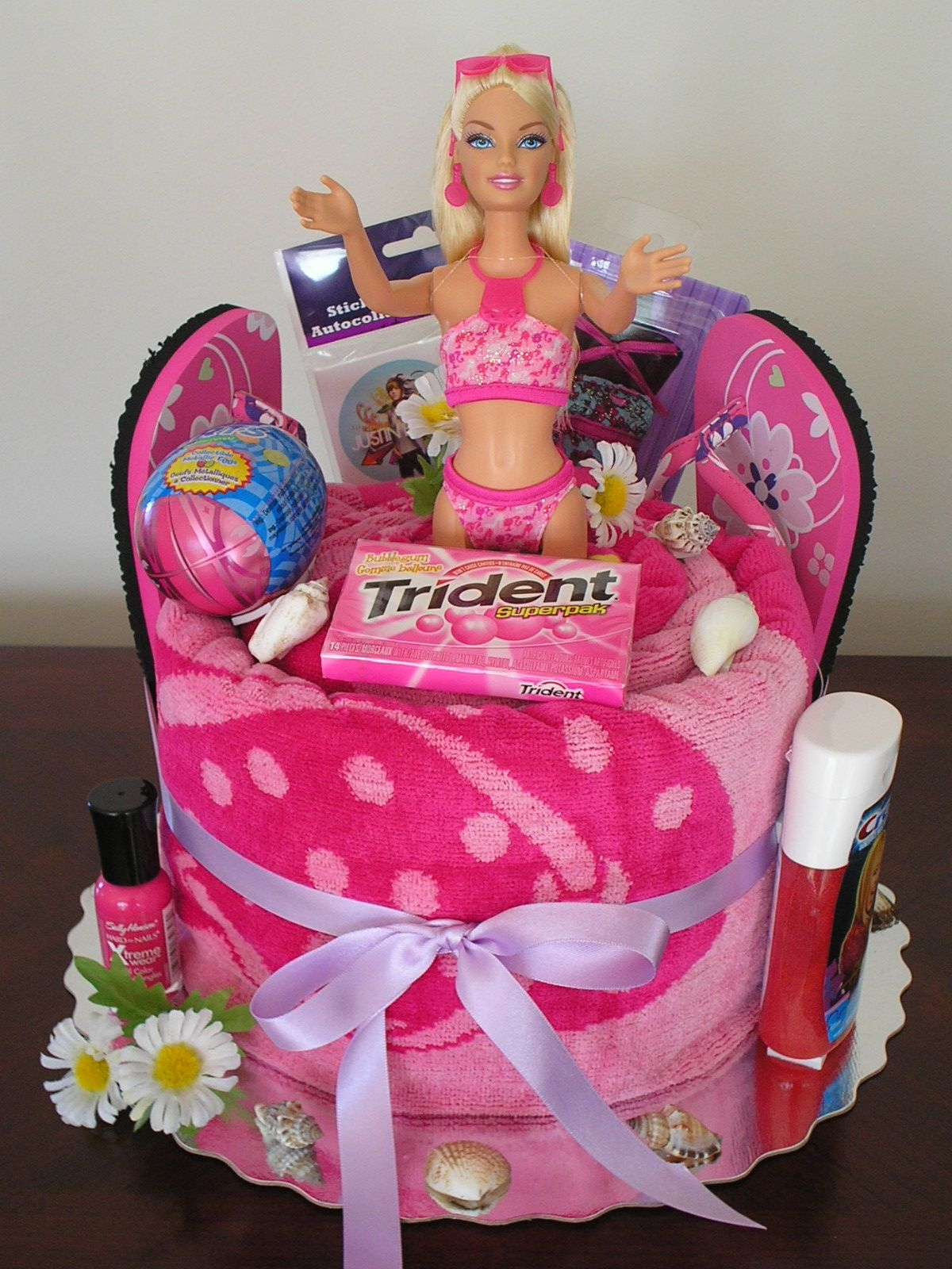 Happy Birthday Barbie Towel Cake Creative T Idea This