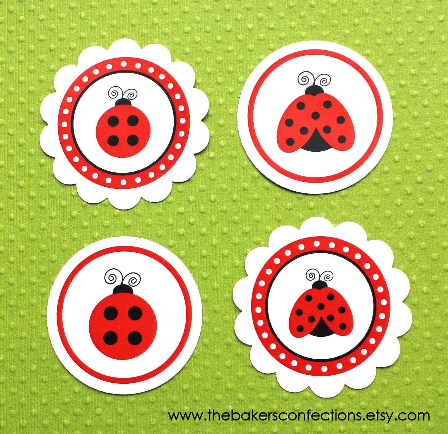 Printable Ladybug Labels For Stickers Tags Or Toppers For Straws Cupcakes Cake Pop