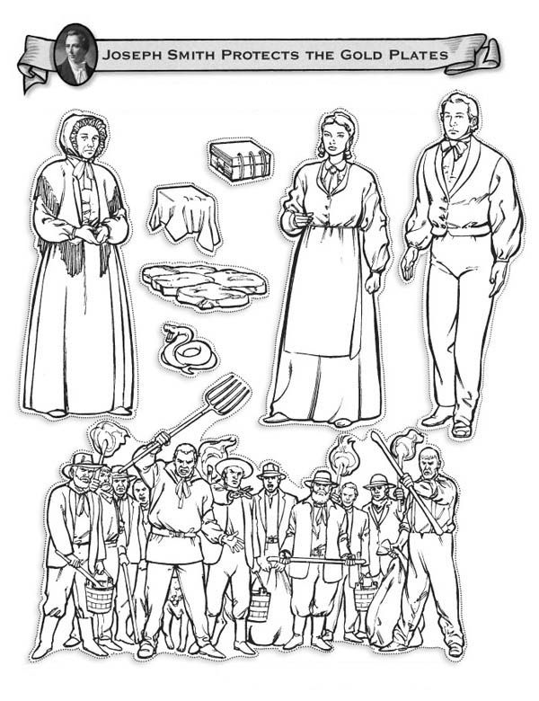 Joseph Smith Protects the Golden Plates Coloring Page