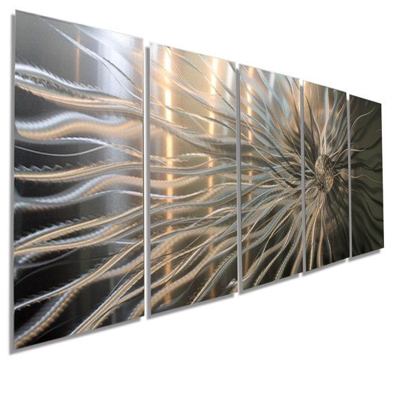 Large silver contemporary metal wall decor abstract art for  modern home also rh pinterest