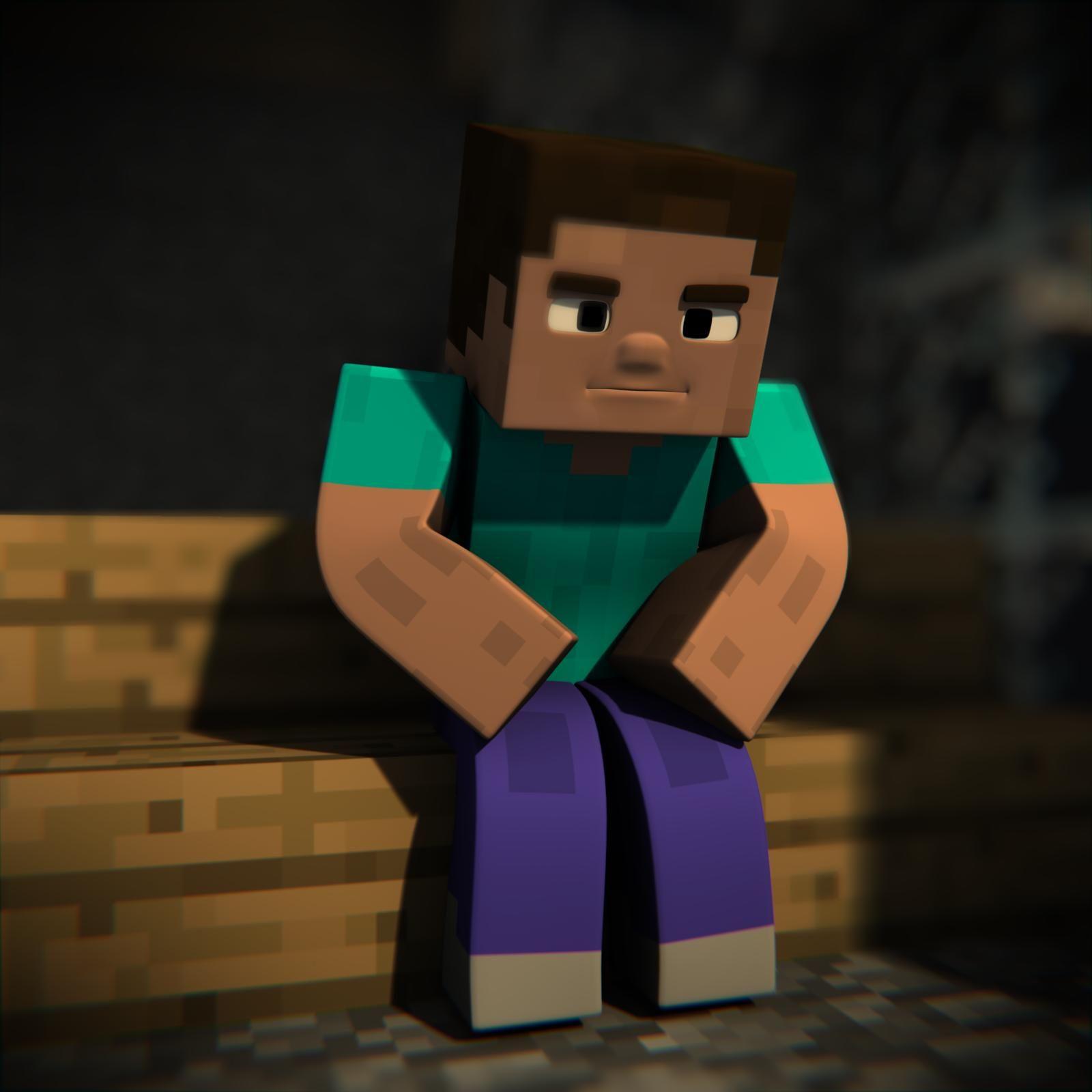 Minecraft Herobrine and Steve