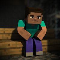 Minecraft Herobrine and Steve | Steve wonders where ...