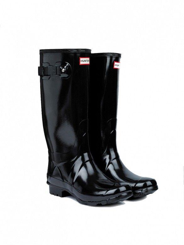 Boot Gloss Size Rain Huntress Black 9 Hunter High