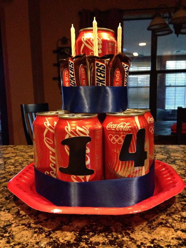 Coke and snickers cake for teen birthday cutsiesgifts