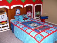 Thomas the Train Bedroom with Mural | Murals, Thomas the ...