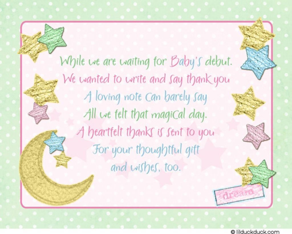 Baby shower thank you cards printable baby shower
