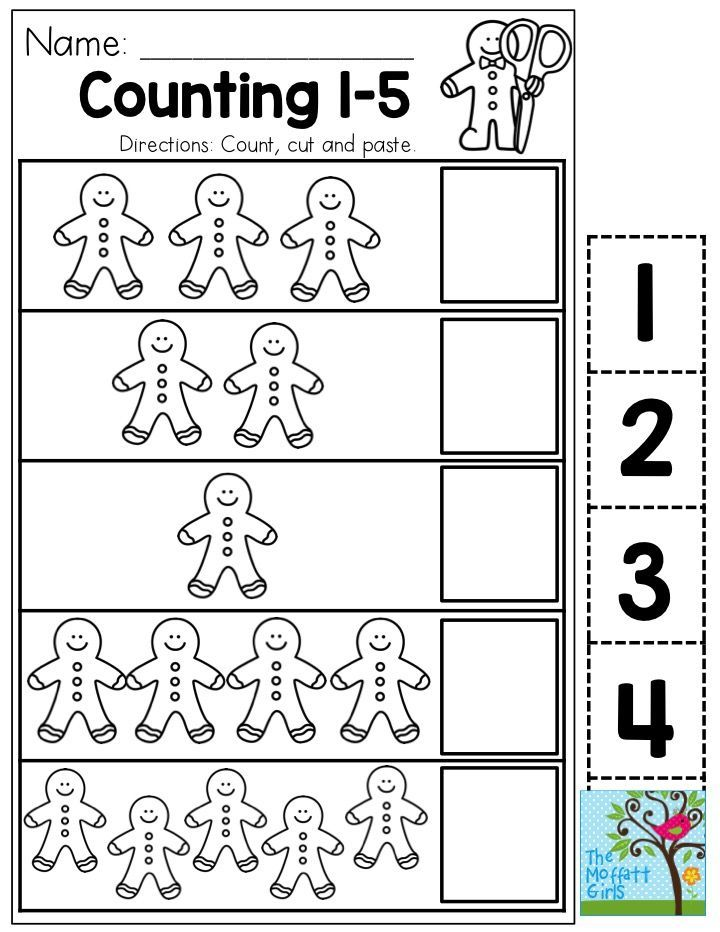 Count 1-5 with Gingerbread Men! You could use this as a