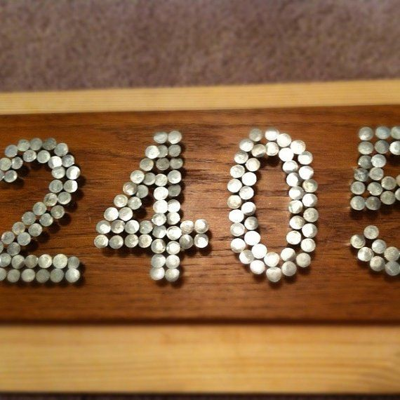 25 Creative DIY House Numbers Ideas Diy House Numbers House And