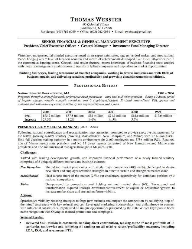 Bank Resume Examples