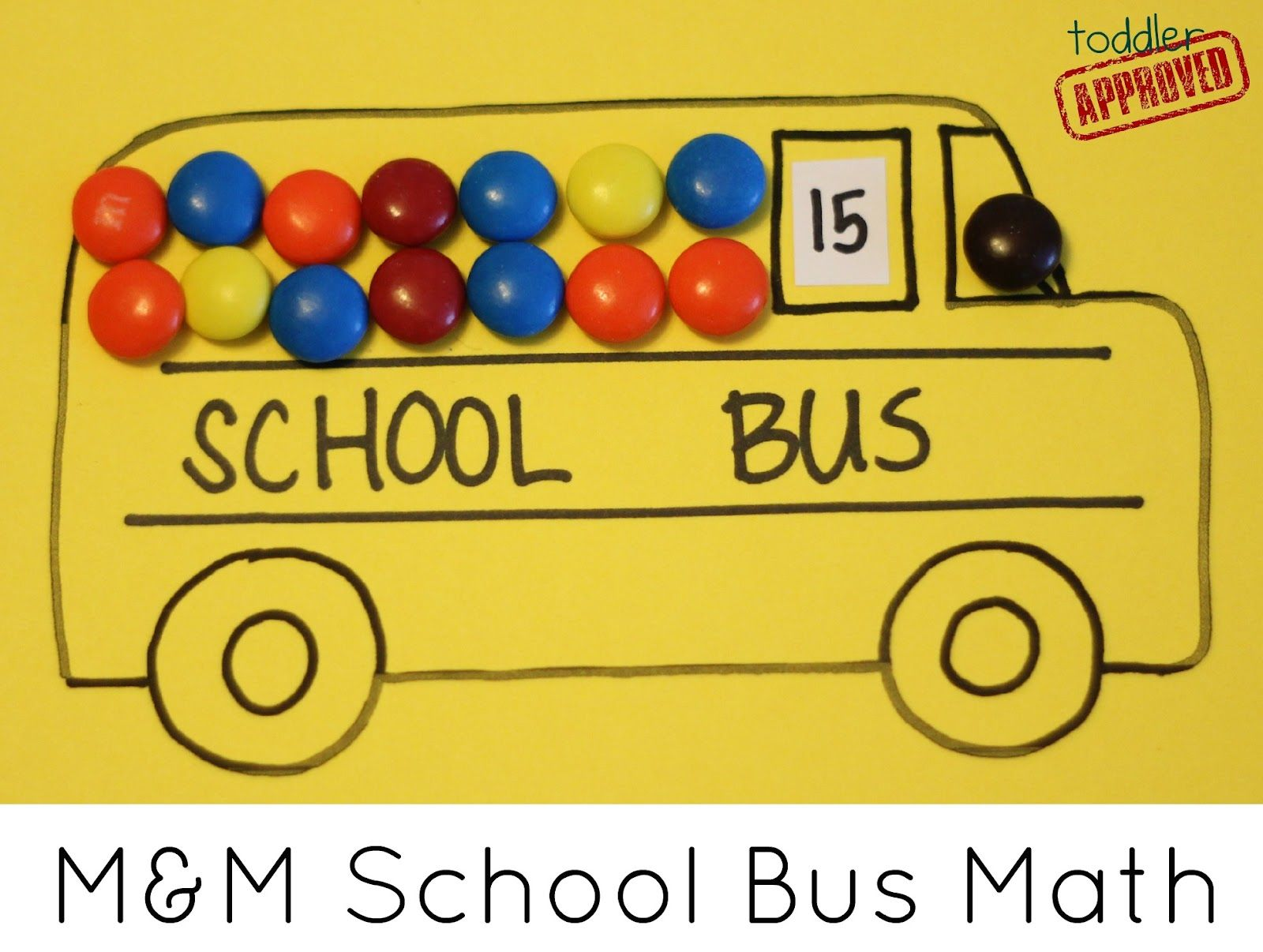 M Amp M School Bus Math