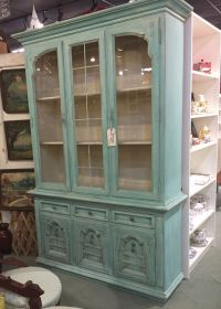 Thomasville china cabinet makeover redo! Chalk painted ...
