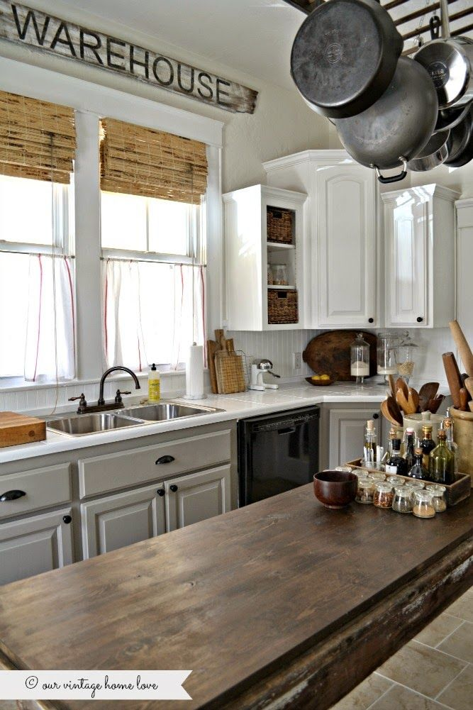 painted kitchen cabinets white uppers and gray lowers with