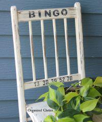 "Funky Junk Interiors Old Sign Stencils ""Bingo"" Chair www ..."