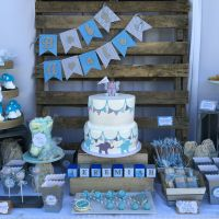 Rustic blue and gray elephant baby shower theme | Nifty ...