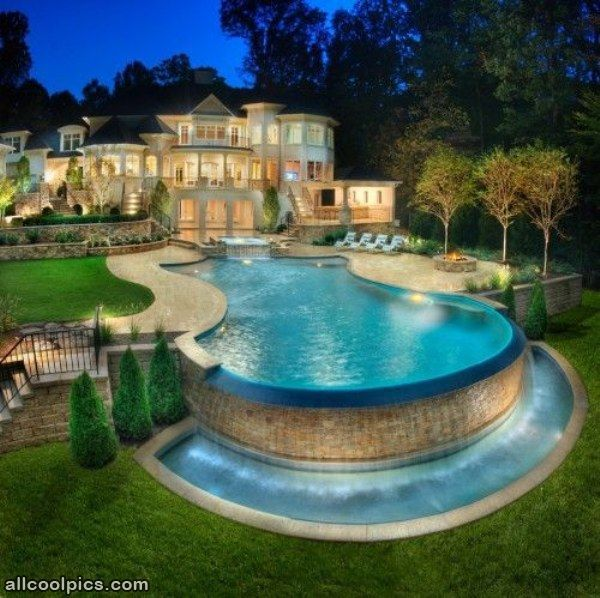 cool pools  Really Cool House And Pool  Cool Pictures  crazy cool homes  Pinterest  Swim