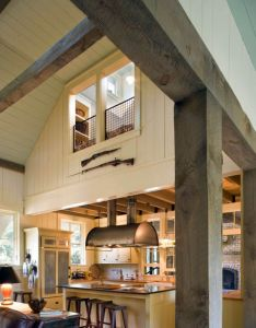 Kitchen  barn style home on south carolina  spring island also rustic inspired vacation retreat rh pinterest