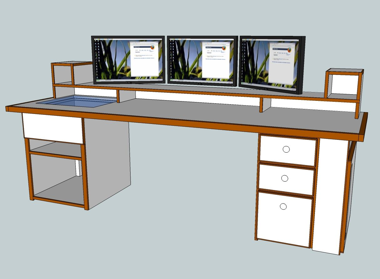 Scratch Build Project The Ultimate Computer Desk  Power