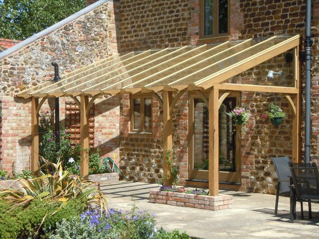 Glazed roof pergola