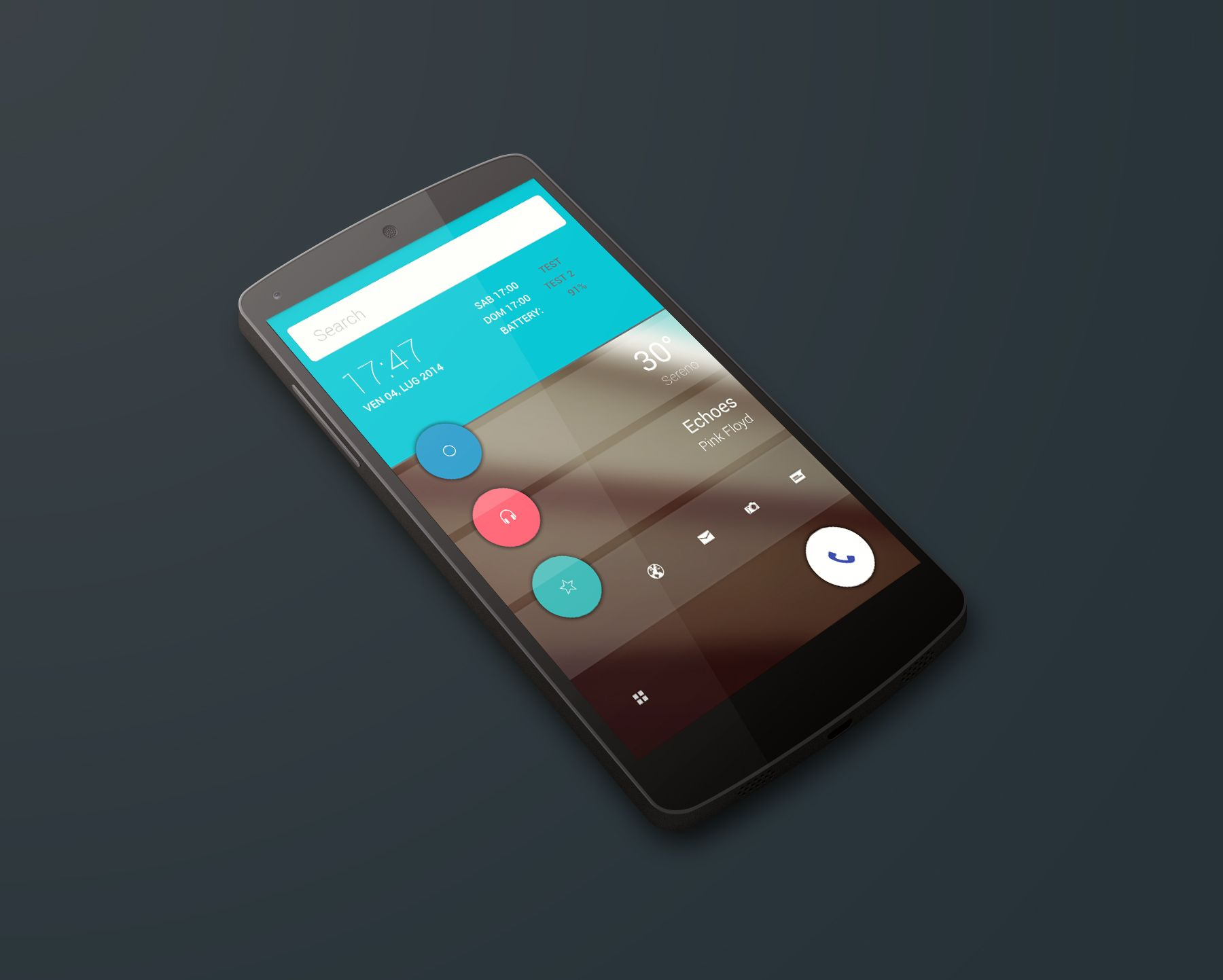 Material Design Android Homescreen By Emiddio Polcaro UI