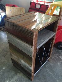 Barnwood Record Player Stand and Vinyl Storage | My ...