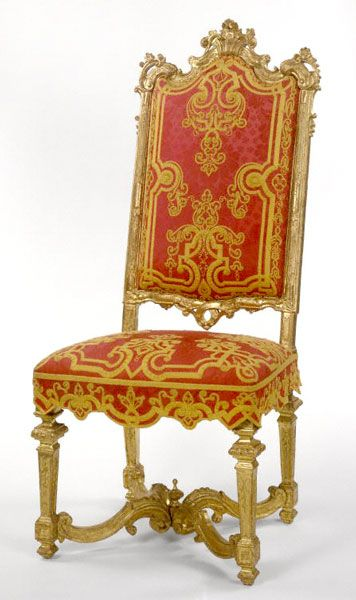Louis XIV carved Giltwood side chair Circa1710
