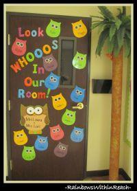 Owls: Whooo for You | Owl, Bulletin board and Classroom door