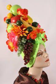 fruit bowl hat carmen miranda - Google Search | Head-dress ...