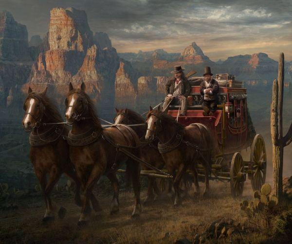 West Cowboys . Fantasy Horses Lady