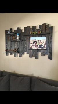 Rustic Reclaimed Wood Wall Decor/Shelving 60 Wide x 36 ...