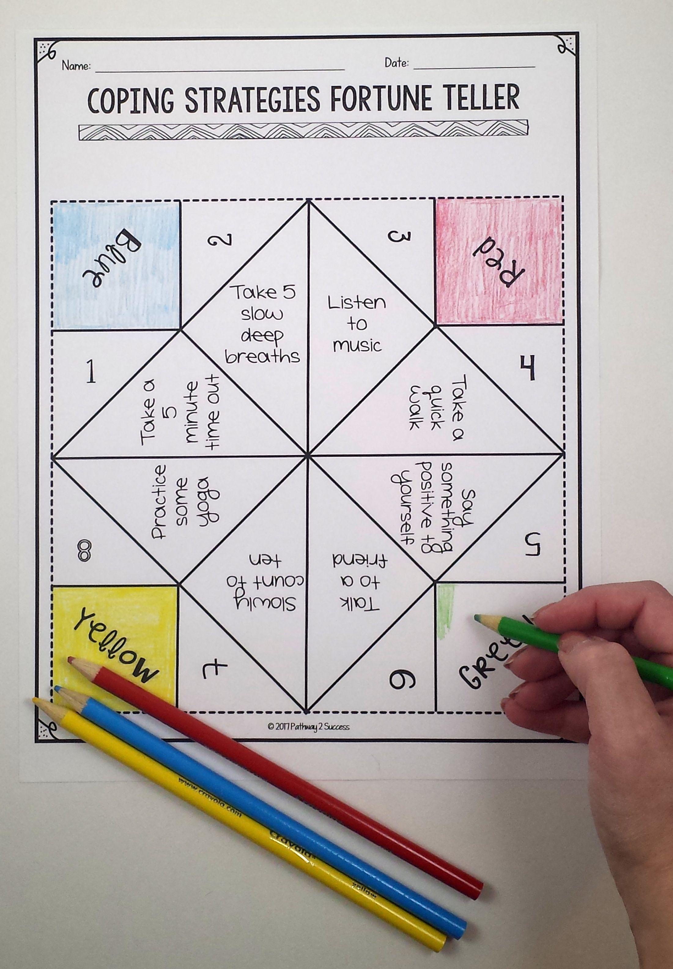 Anger Management Worksheet Toys