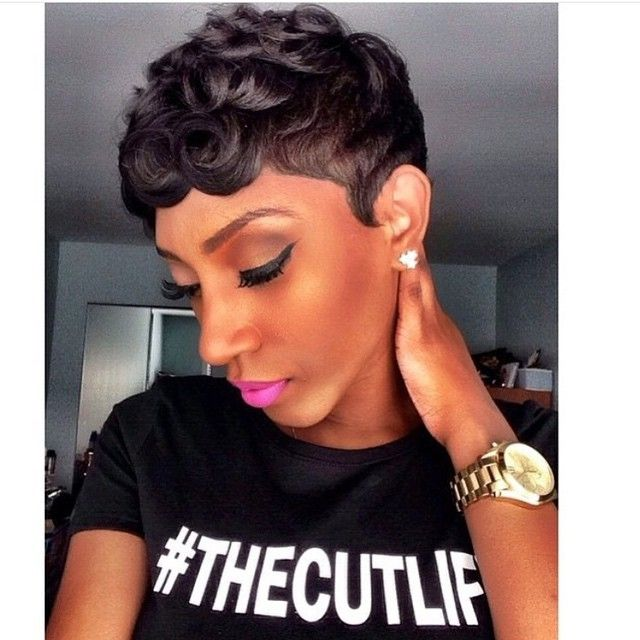 Loose Pin Curls Short Haircut Stylists Killed And Fierce!