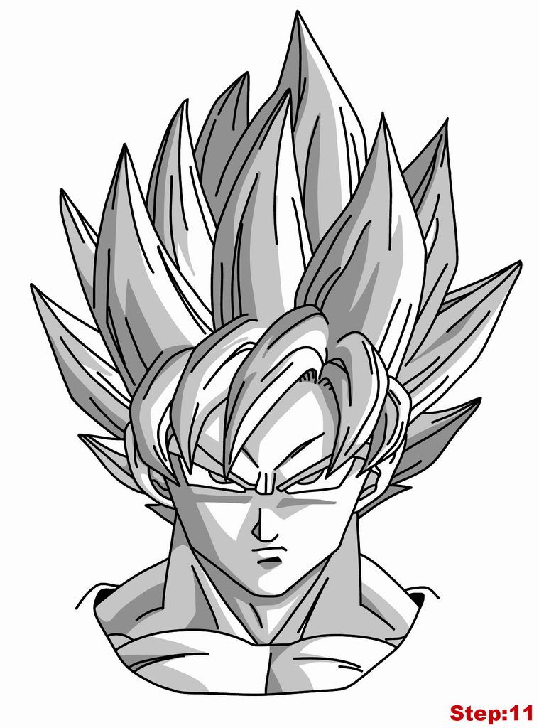 Cool Goku Drawings Easy