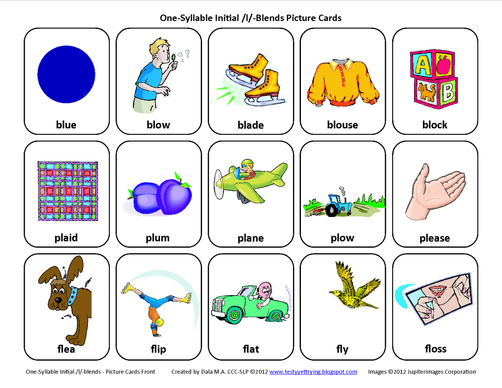 L Blends Worksheet Speech Therapy
