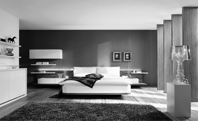 a regal modern midtown apartment image of blue white and grey